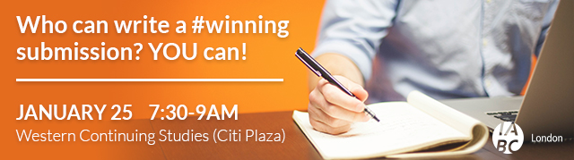 Who can write a #winning submission? You can! Jan 25 7:30am | Western Continuing Studies (Citi Plaza)