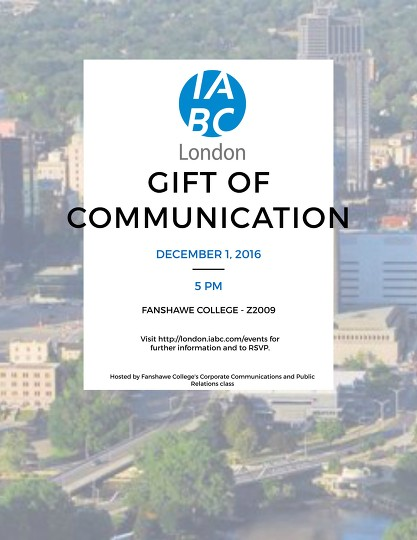IABC Gift of Communication invitation